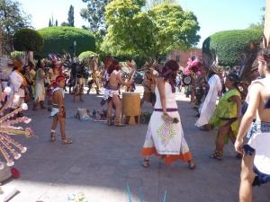 Concheros in the plaza
