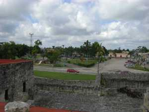 Bacalar plaza from San Felipe Fort